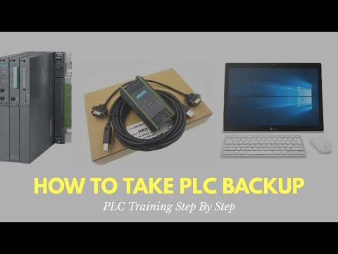 Siemens PLC Backup Procedure : PLC Training Step By Step