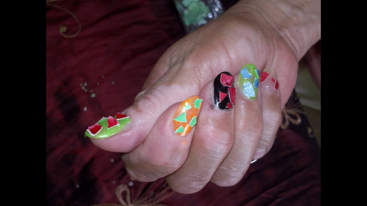 cascara de huevo para uñas. decoracion - YouTube
