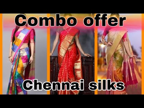Chennai silks combo offer silk sarees collections buy 1 get 1 offer.....