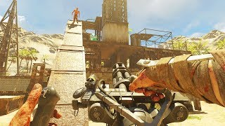 RUST ZOMBIES WITH BOSS FIGHT ENDING!  (Call Of Duty: Custom Zombies)