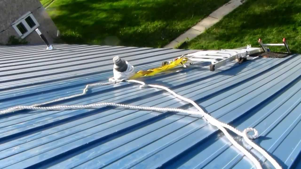 Equipment For Climbing A Metal Roof Youtube