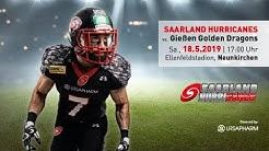 Saarland Hurricanes vs. Gießen Golden Dragons GFL2 / 2019