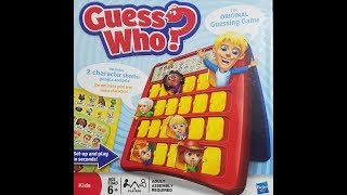 Guess Who? Board Game (2009, Hasbro) -- What's Inside