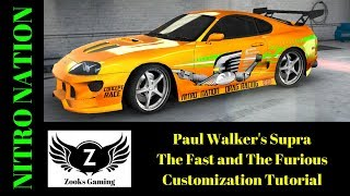 Paul Walker's Supra - The Fast And The Furious - Customization Tutorial
