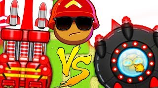 BRAND NEW UFO TOWER VS GOD LIKE ROCKET TOWER - BLOONS TD BATTLES MODDED | JeromeASF
