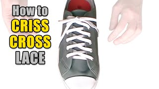 How to Criss Cross Lace your shoes - Professor Shoelace