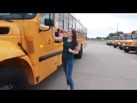 CDL Pre-Trip Inspection Demonstration On A School Bus