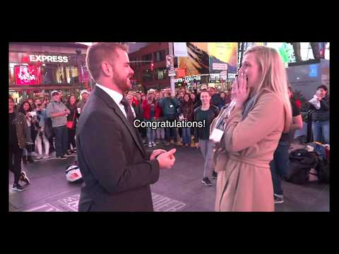 Vance and Danessa's Flash Mob Proposal in Times Square, NYC!
