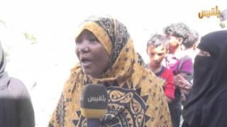 شاهد بالفيديو : أم تفقد ثلاثة أطفال بقذيفة حوثية بتعز