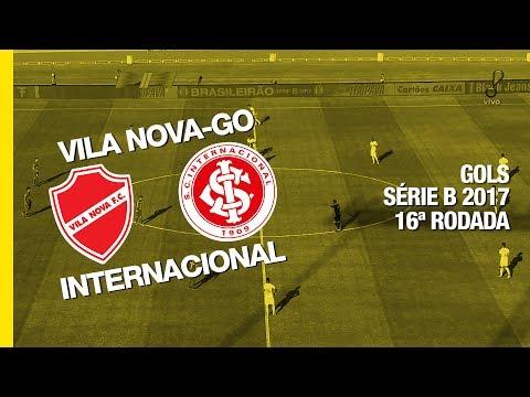 Gols - Vila Nova-GO 2 x 1 Internacional - Série B - 22/07/2017