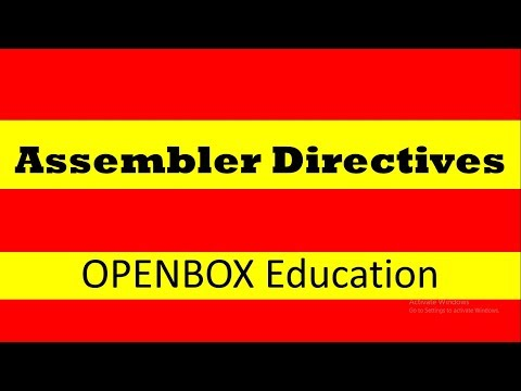 Assembler Directives- OPEN BOX Education