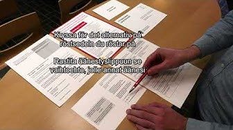 Så här brevröstar du - Näin äänestät kirjeitse