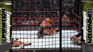 new year´s revolution 2005 elimination chamber match highlights