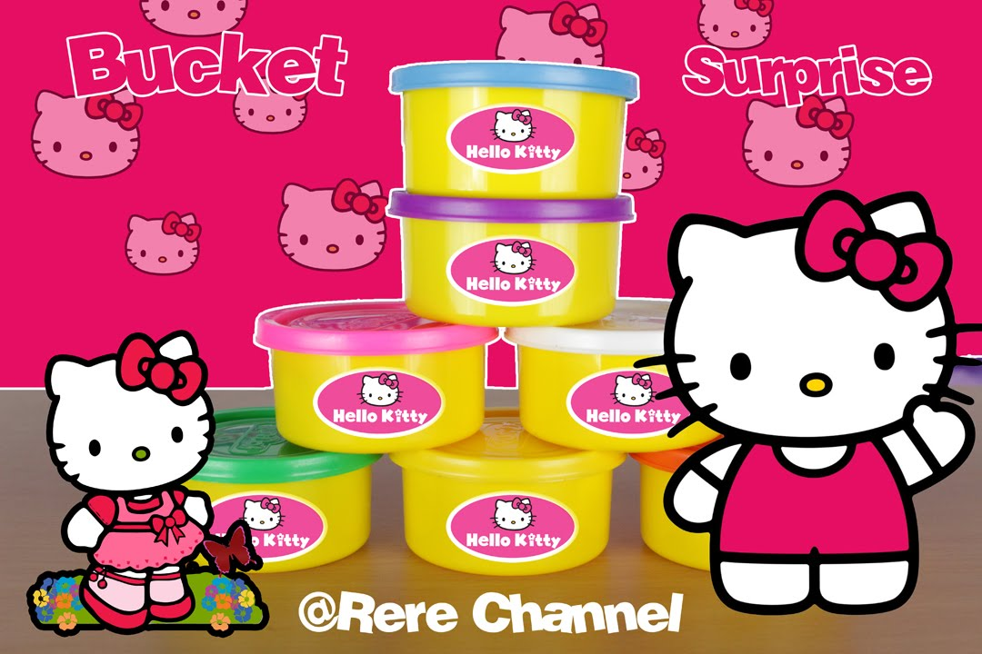 Bucket Surprise Hello Kitty Cute Cantik Imut Surprise Egg Video - YouTube 94ad45b210