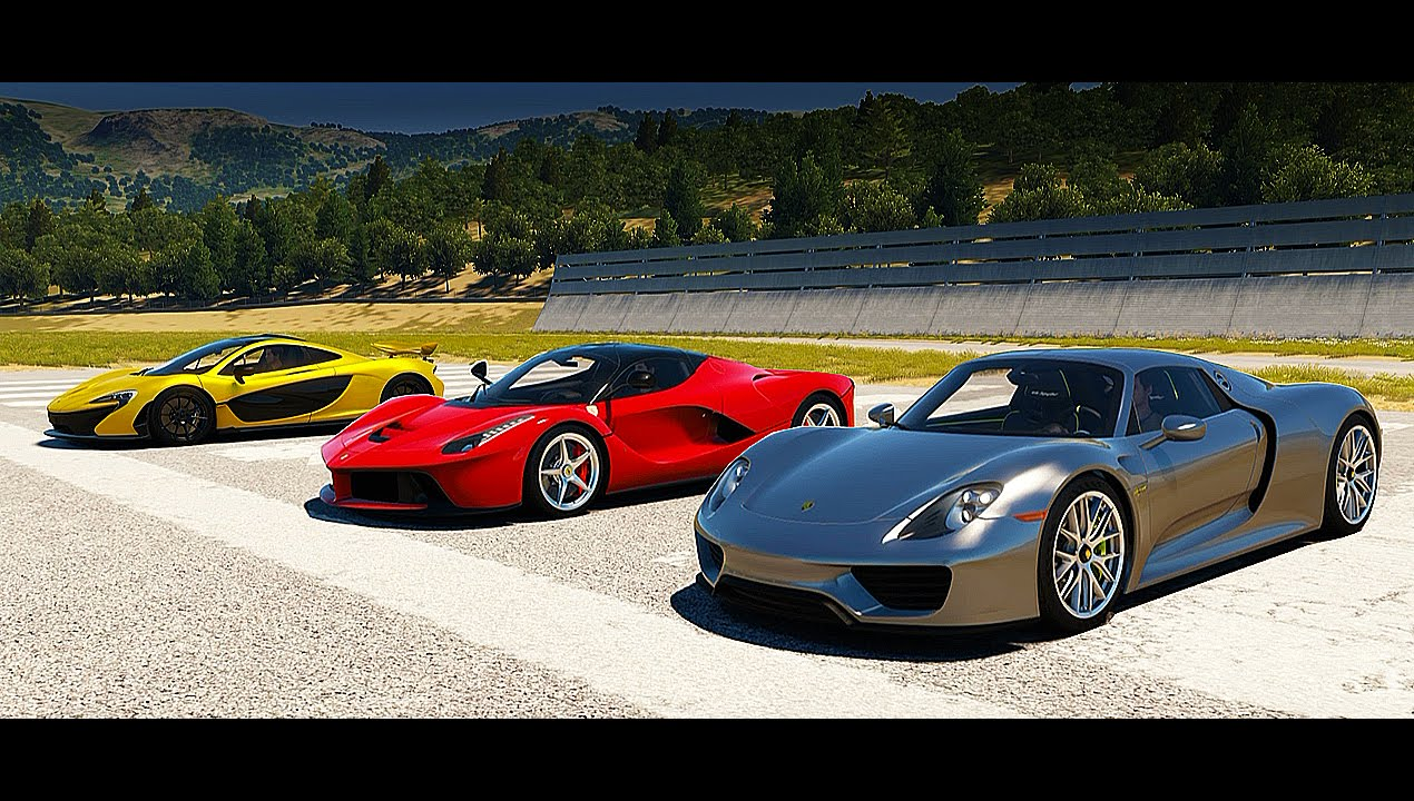 mclaren p1 vs laferrari. porsche 918 spyder vs mclaren p1 laferrari drag race forza horizon 2 youtube mclaren laferrari d