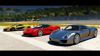 Porsche 918 Spyder vs McLaren P1 vs LaFerrari DRAG RACE!  | Forza Horizon 2