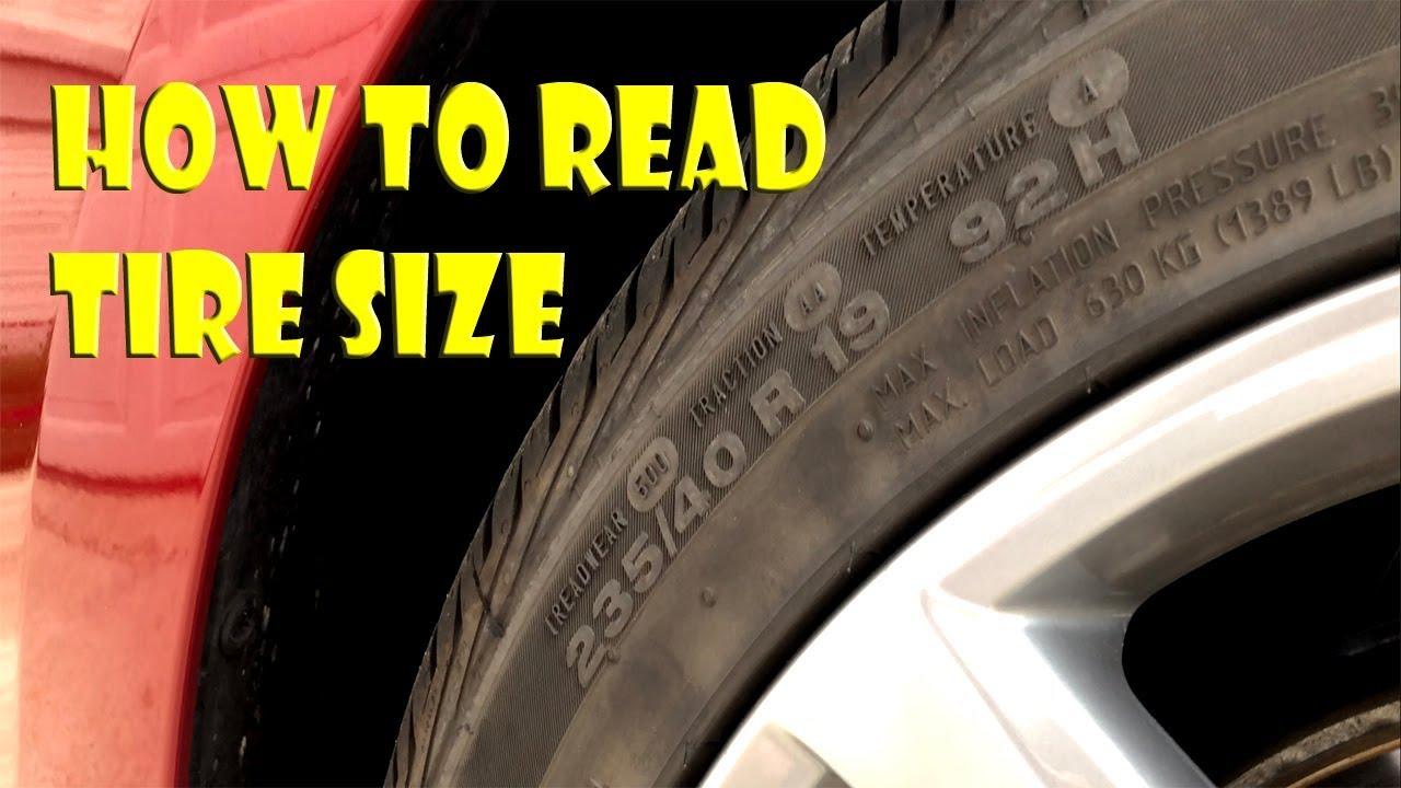 How To Read Tire Size >> How To Read A Tire Size On Sidewall Including Production Date