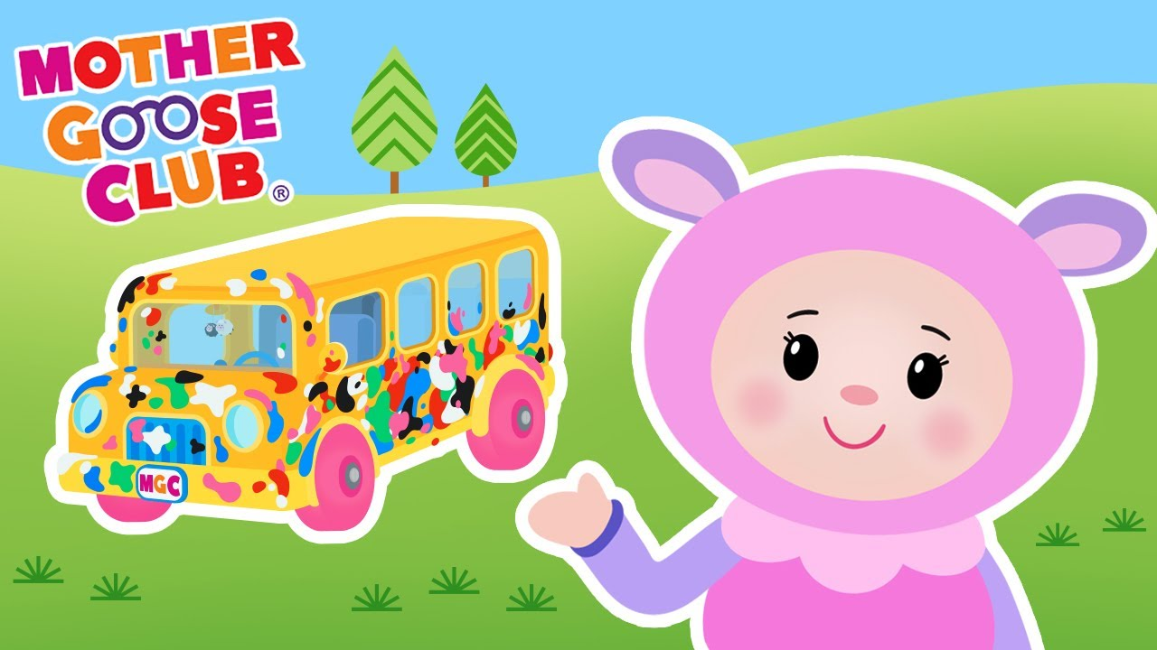 Wheels on the Bus Color Song | Messy Color Bus | Mother Goose Club Kid Songs and Baby Songs