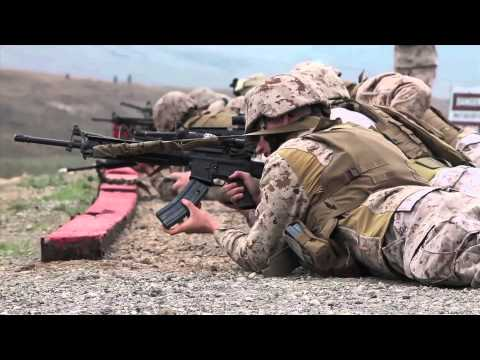I MEF Marines qualifying with M16, Combat Rifle Marksmanship table 3 & 4