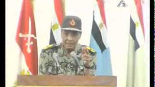المشير طنطاوى يصرح الجيش لو وقع مصر هتقع