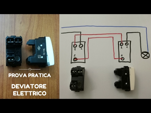 Schemi Elettrici Unifilari E Multifilari : Deviatore elettrico youtube