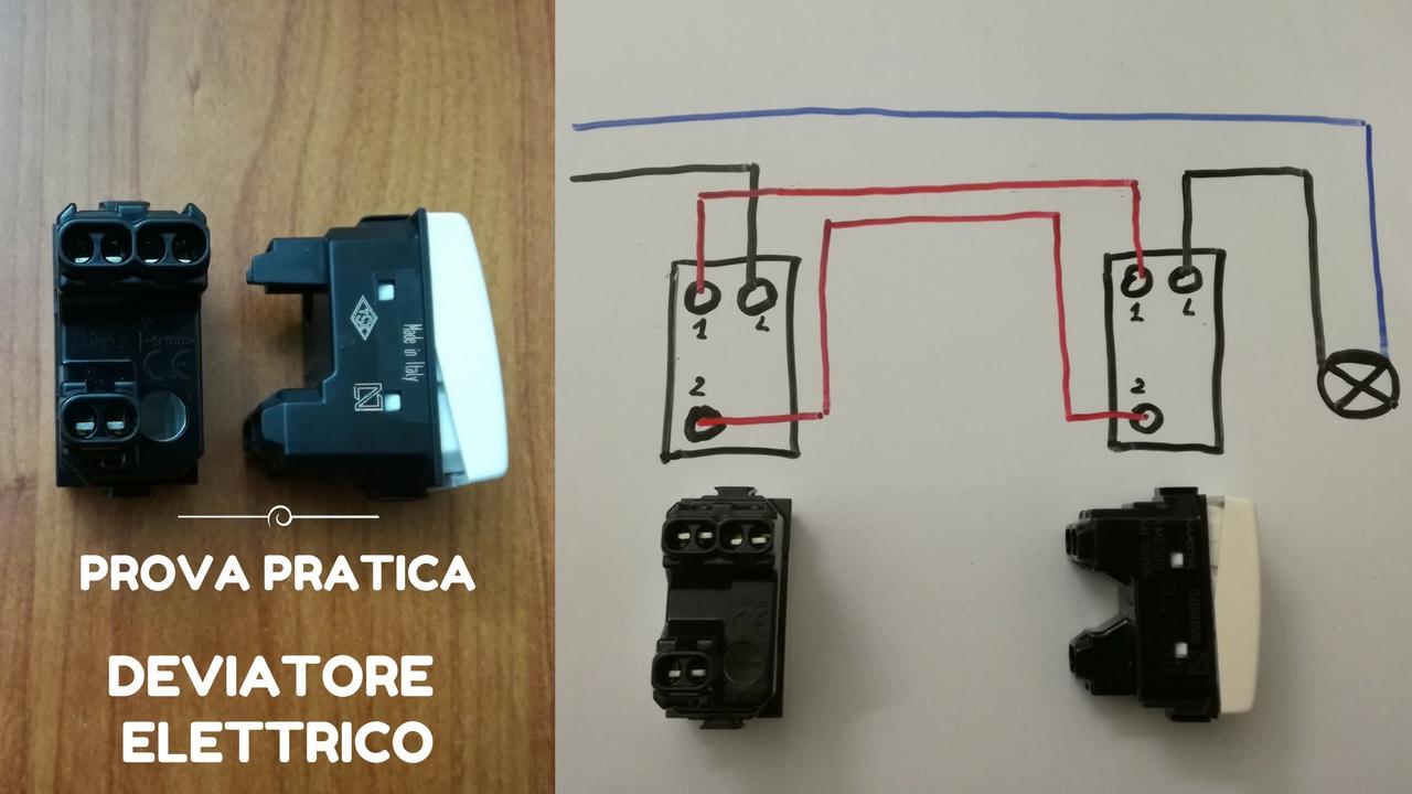 Schema Elettrico Di Un Deviatore : Deviatore elettrico youtube