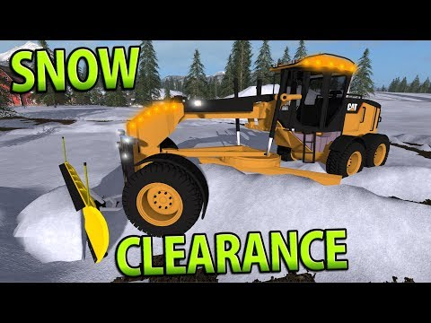SNOW CLEARANCE | GOLDCREST VALLEY | Farming Simulator 17