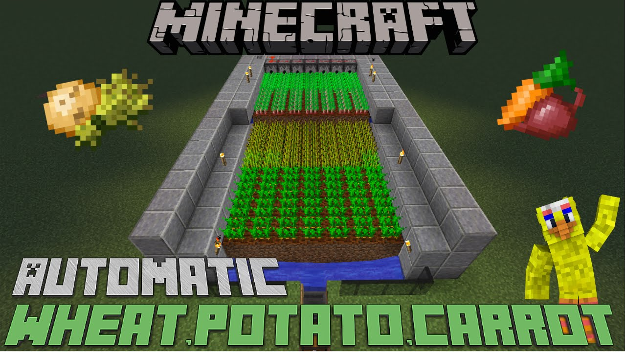 Minecraft Automatic Wheat Carrot Potato Or Beetroot Farm 1 12 Xbox Ps4 Mcpe Youtube