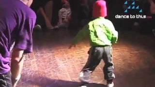 B-Girl Terra aged 4 in B-Boy Champs Cypher
