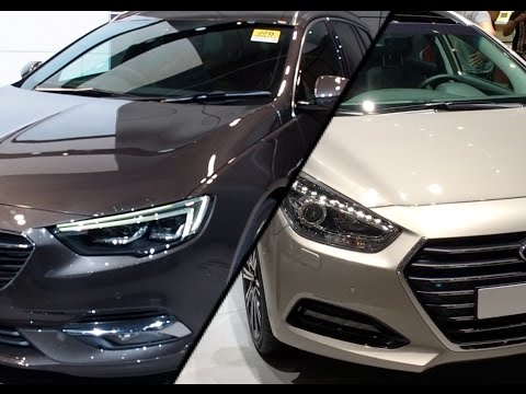 2017 Hyundai i40 Wagon vs. 2017 Opel Insignia Sports Tourer