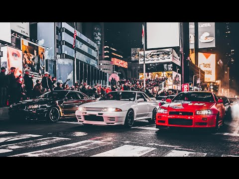 #themovie NYC New York City GTR Times Square Takeover Veterans Day Weekend R34 , R32 , R35