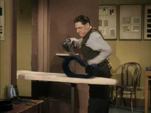 The Three Stooges: Shemp VS an Ironing board. IN COLOR