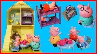佩佩豬粉紅豬小妹有新洋房玩具了,歡樂家庭房屋!