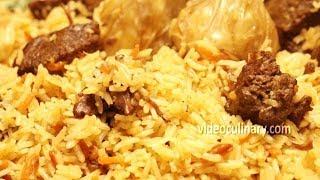 Plov Recipe - Uzbek Pilaf Rice with Garlic by Video Culinary