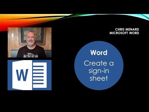 Create a sign-in sheet in Microsoft Word by Chris Menard - YouTube