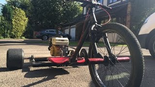 building the gx200 motorized drift trike with time lapse