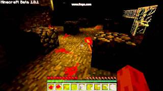 Simple Redstone Circuit in Cave