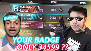BUYING 100.000 BADGE WITHOUT BEGGING FOR 5M SUBS. EWWW.