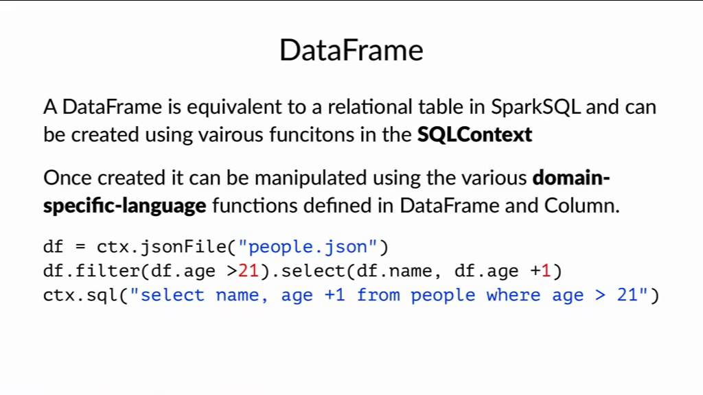Image from Peter Hoffmann: Indroduction to the PySpark DataFrame API