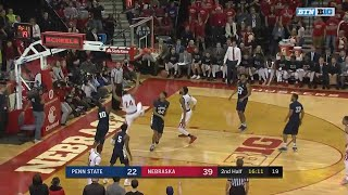 Penn State at Nebraska - Men's Basketball Highlights