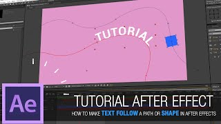 After Effects Tutorial - How to make text follow a path or shape in After Effects