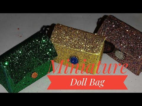 Miniature Doll Bag/Doll bag/Miniature Purse/Barbie Handbag/Doll mini purse/Barbie purse/Diy Doll ba