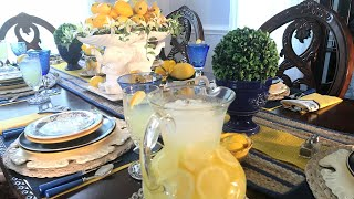 My Spring-Summer Lemon Explosion Tablescape