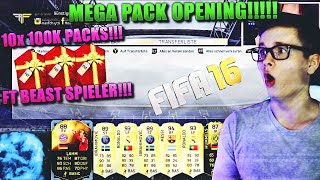 FIFA 16: PACK OPENING (DEUTSCH) - FIFA 16 ULTIMATE TEAM - OMFG 10x 100K PACKS! [FT BEAST SPIELER!]
