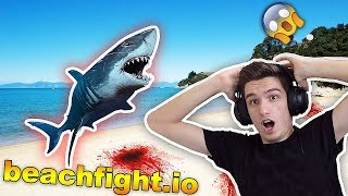 SHARK ATTACK ON THE BEACH !! ( beachfight.io )