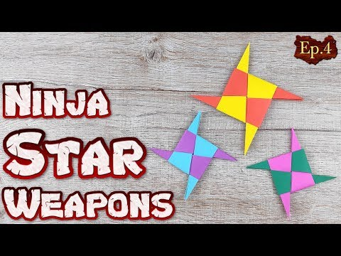 Ninja Star Origami Toys | How To Making a Ninja Weapons Paper Tutorials | DIY Paper Blade Shuriken