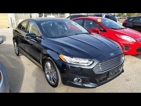 20142015 ford fusion titanium review start up and walkaround - 2015 Ford Fusion Titanium Black
