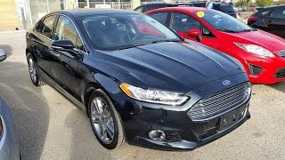 2014/2015 Ford Fusion Titanium Review, Start Up and Walkaround