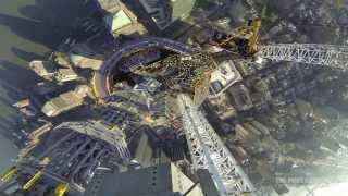 One World Trade Center Spire - Final Segment Lift (GoPro)