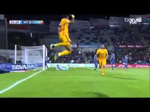 Neymar JR Amazing volley goal vs Getafe